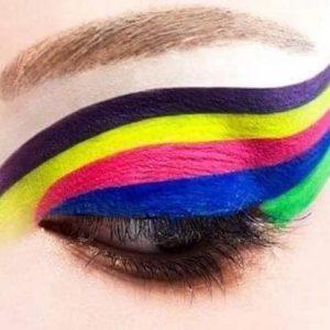 ۲۰ مدل از بهترین و جذاب ترین سایه چشم نئونی