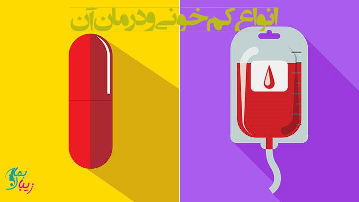 انواع کم خونی و درمان