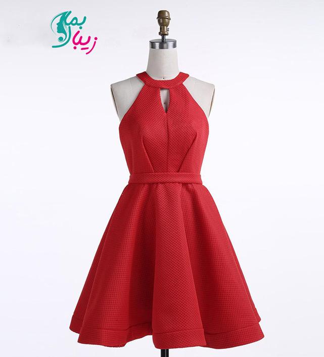 لباس مجلسی کوتاه قرمز
