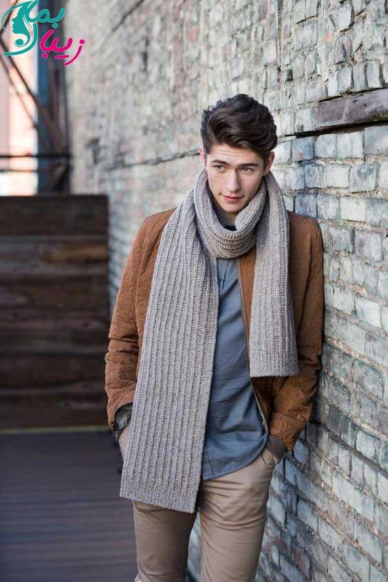 شیک ترین و جدیدترین مدل شال و کلاه مردانه بافتنی