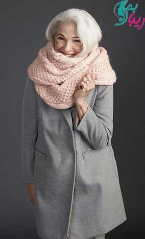 مدل شال رنگی برای خانم های میانسال