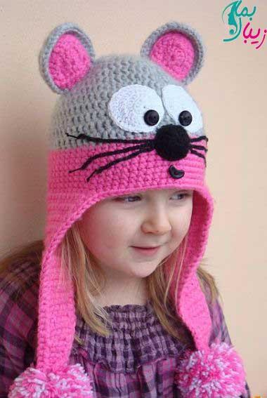 مدل شال و کلاه بچگانه دختر جدید