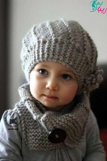 شال و کلاه بچگانه