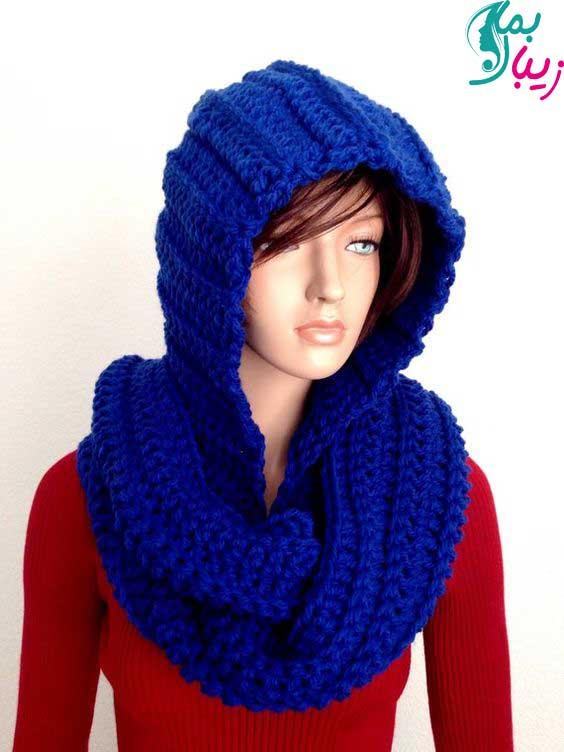 مدل شال و کلاه آبی