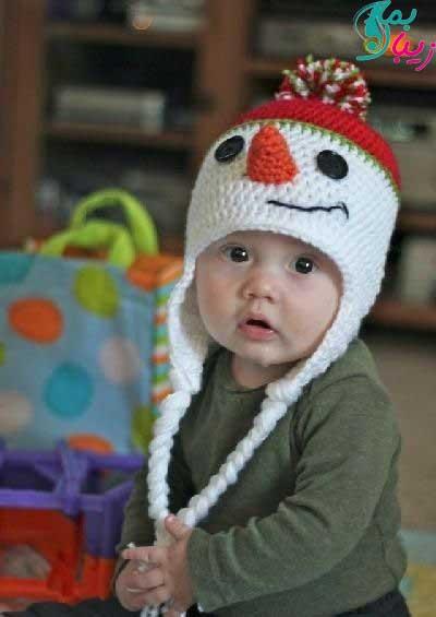 شال و کلاه بچگانه بافتنی