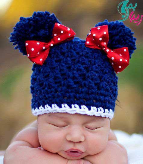 مدل کلاه برای نوزاد