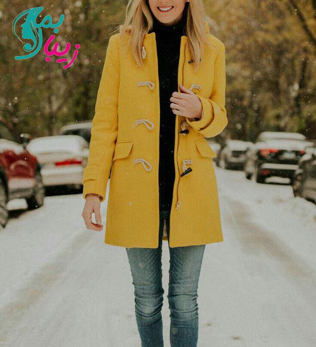 پالتو زمستانی زرد