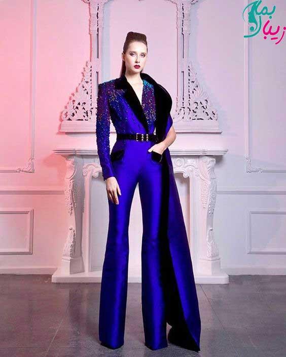 مدل کت شلوار آبی