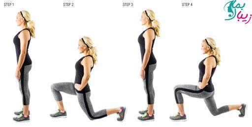 حرکت لانگز زانوزدن از پهلو