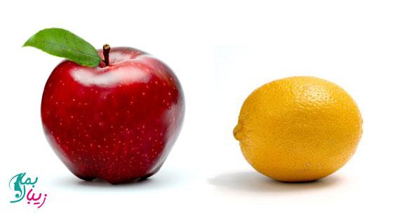 ماسک آب سیب و لیمو