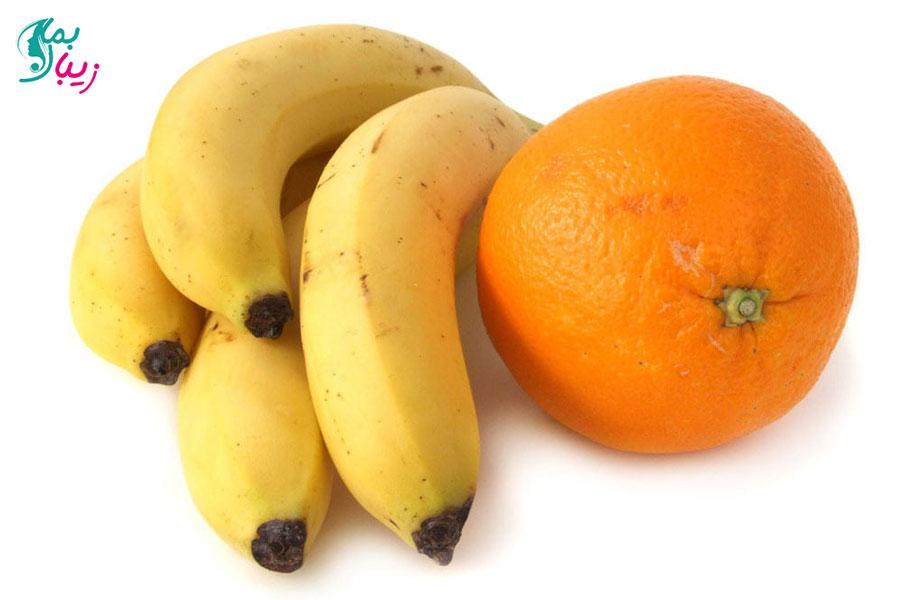 ماسک موز و پوست پرتقال