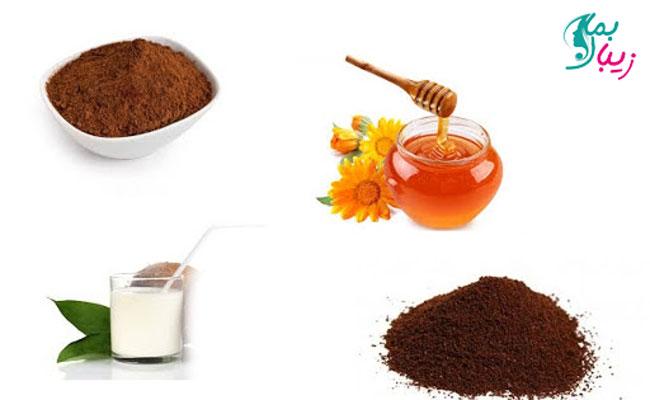 ماسک عسل و پودر کاکائو