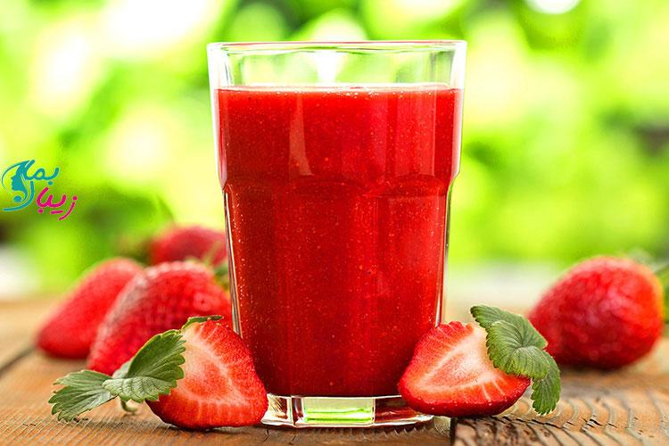 فواید آب توت فرنگی