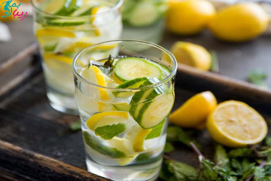 نوشیدنی خیار و لیمو