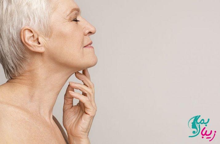 پیشگیری و درمان پیری پوست گردن