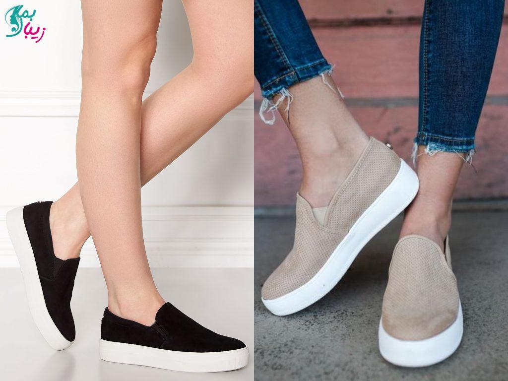 کفش پارچه ای شیک