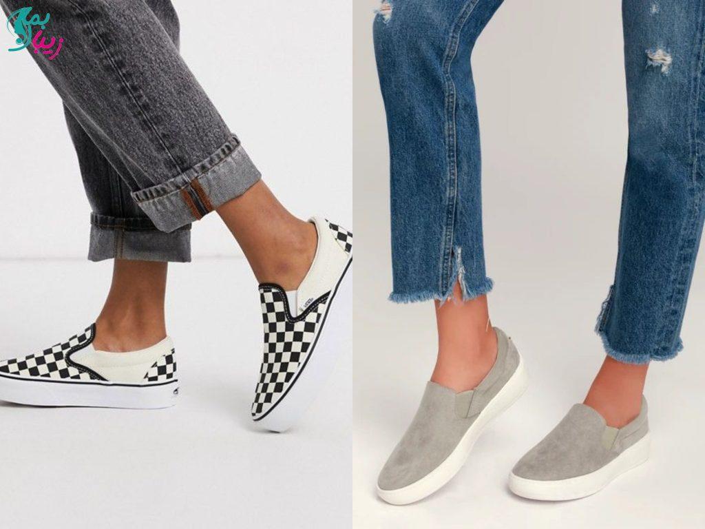 کفش پارچه ای ساده