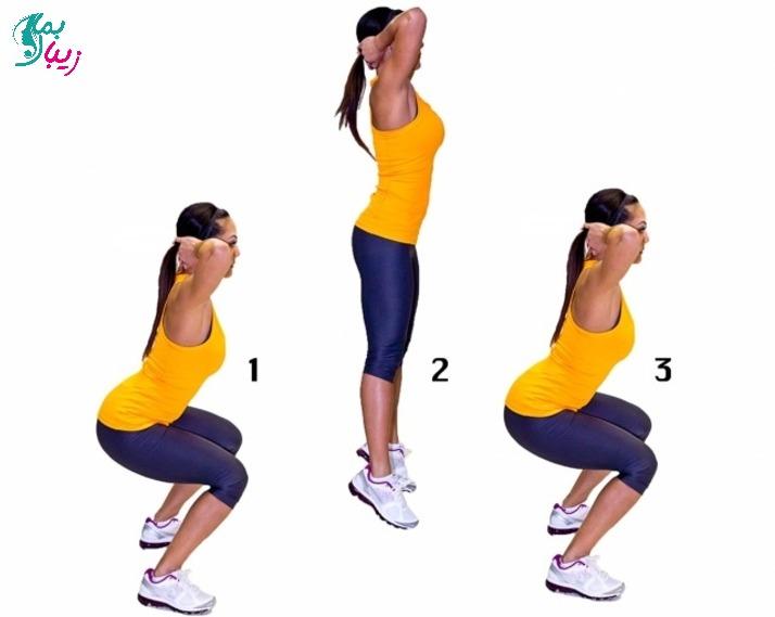 نحوه انجام حرکت اسکات پرشی برای لاغری و عضله سازی