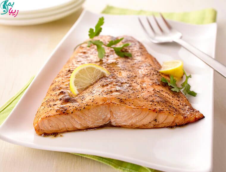 ماهی سالمون برای چاق شدن پایین تنه