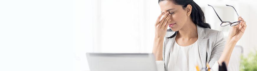 تمرینات برای خستگی چشم با رایانه