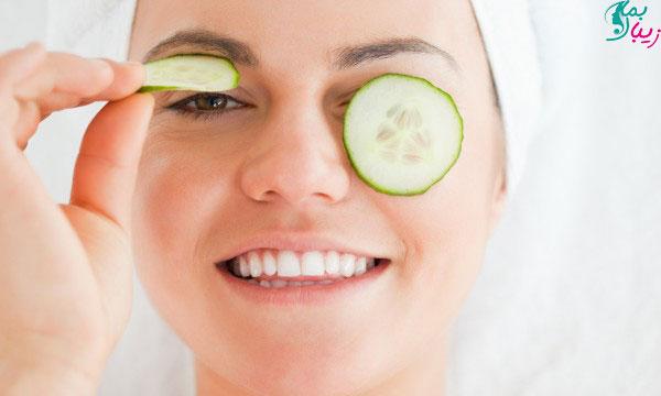 درمان برای کاهش پف چشم