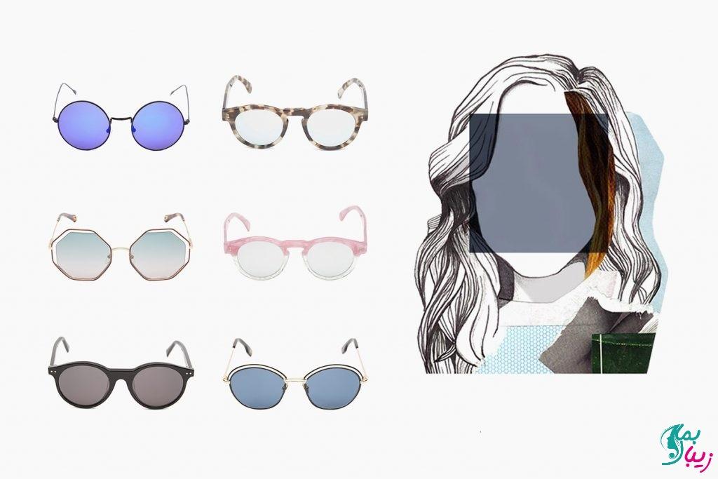 مدل عینک مناسب برای صورت مربعی