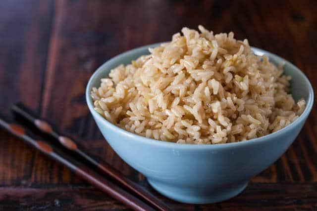 طرز پخت برنج قهوه ای برای لاغری