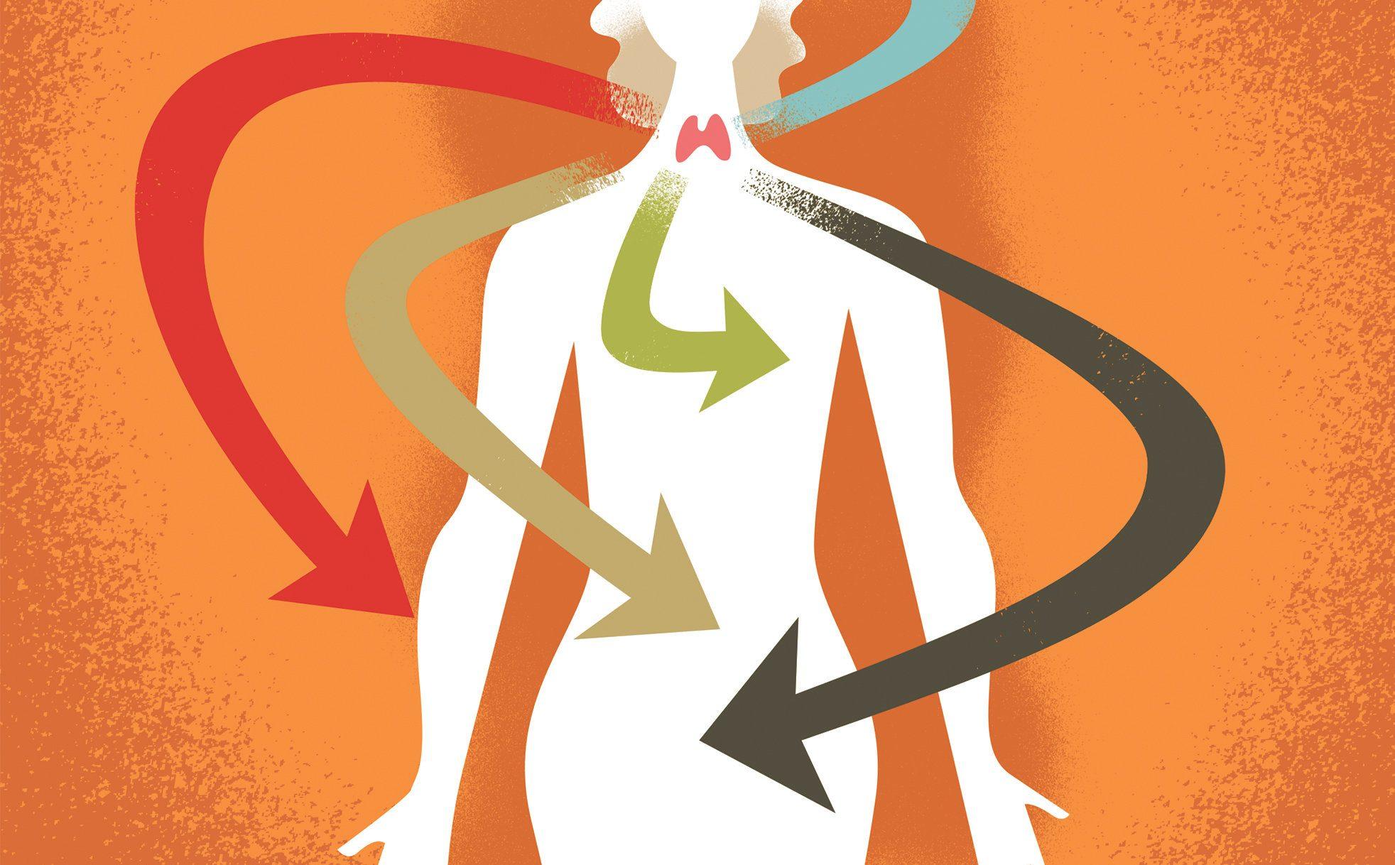 علائم پرکاری تیروئید در زنان