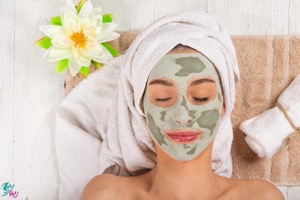 ماسک خاک رس برای کاهش چربی پوست