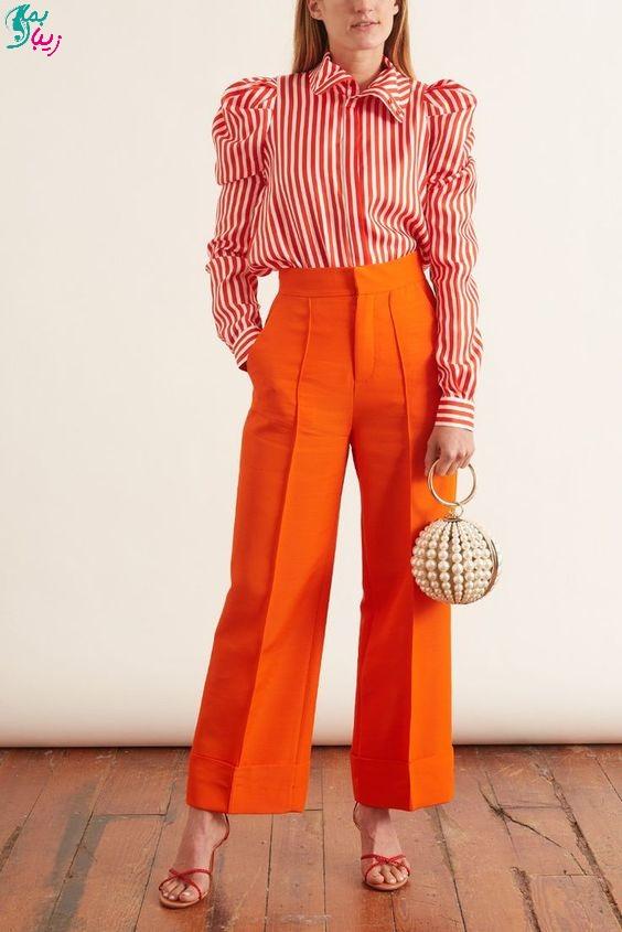 رنگ نارنجی پرتقالی در پالت رنگ های بهاری