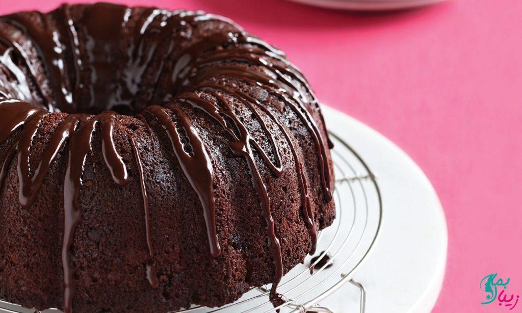 طرز تهیه کیک تابه ای شکلاتی بدون فر