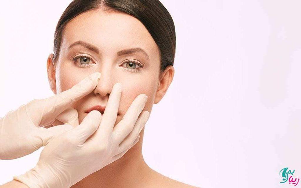 کوچک کردن بینی با چسب